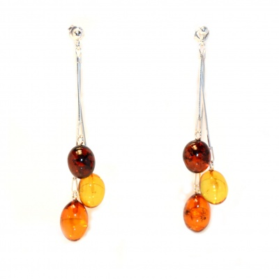 Multicolor Amber Drop Earrings